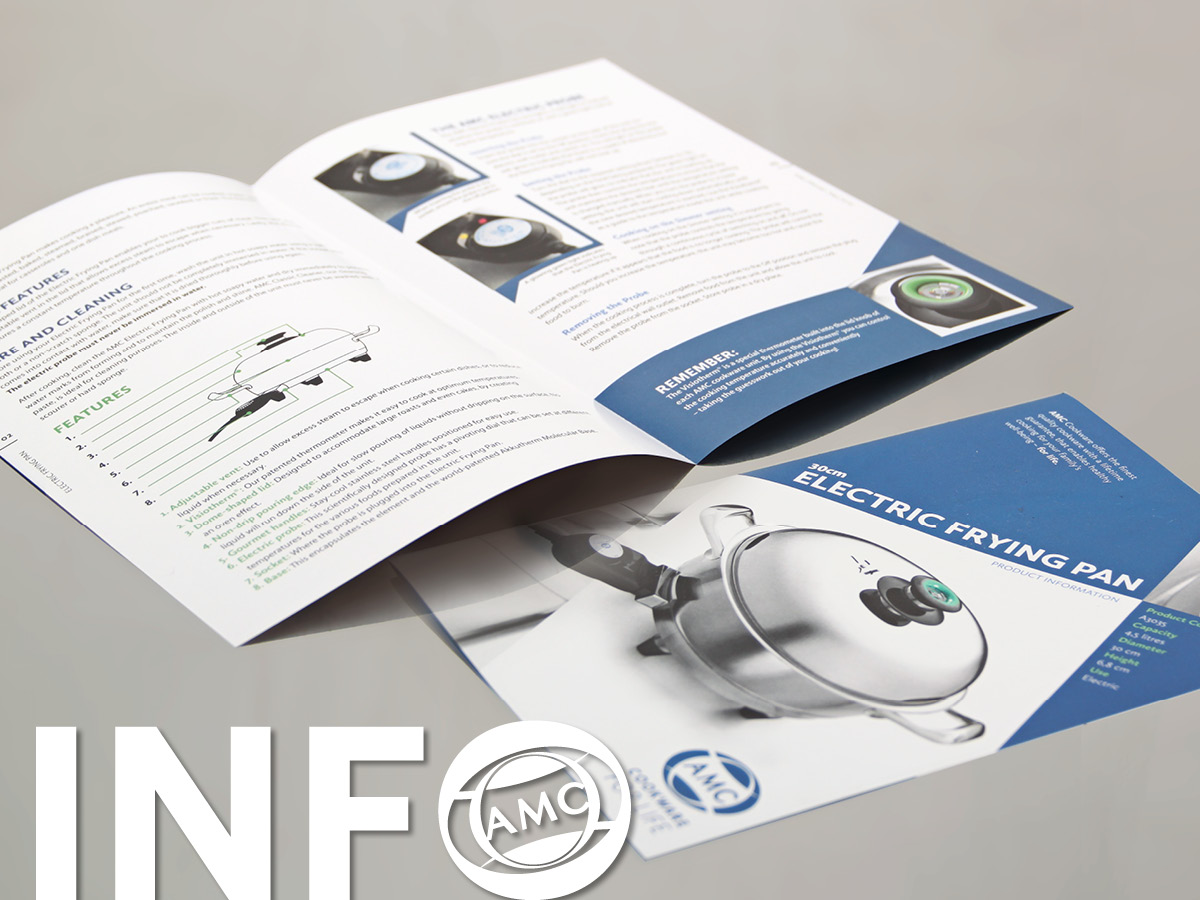 30 cm Electric Fry Pan information leaflet