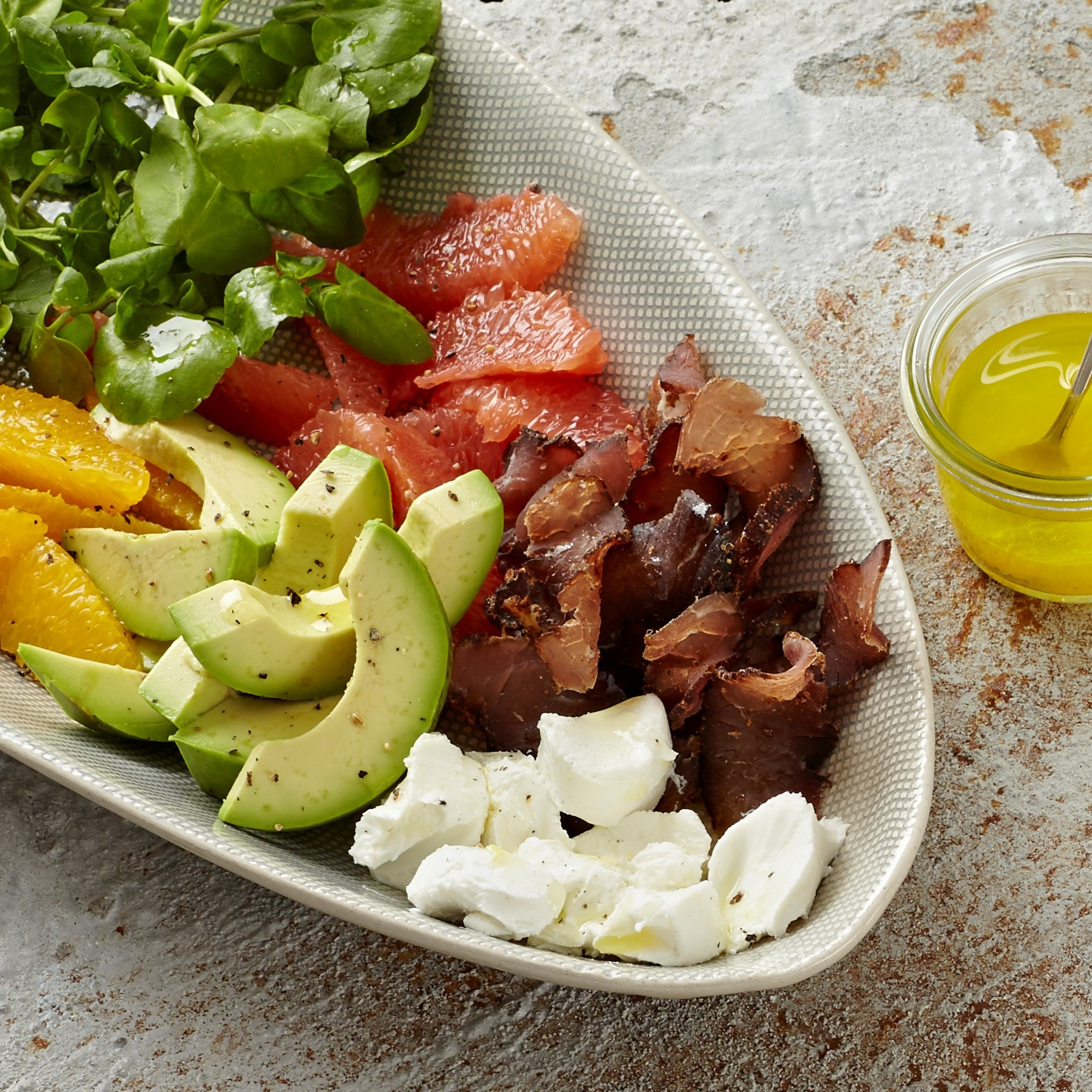 Avocado & citrus salad with biltong