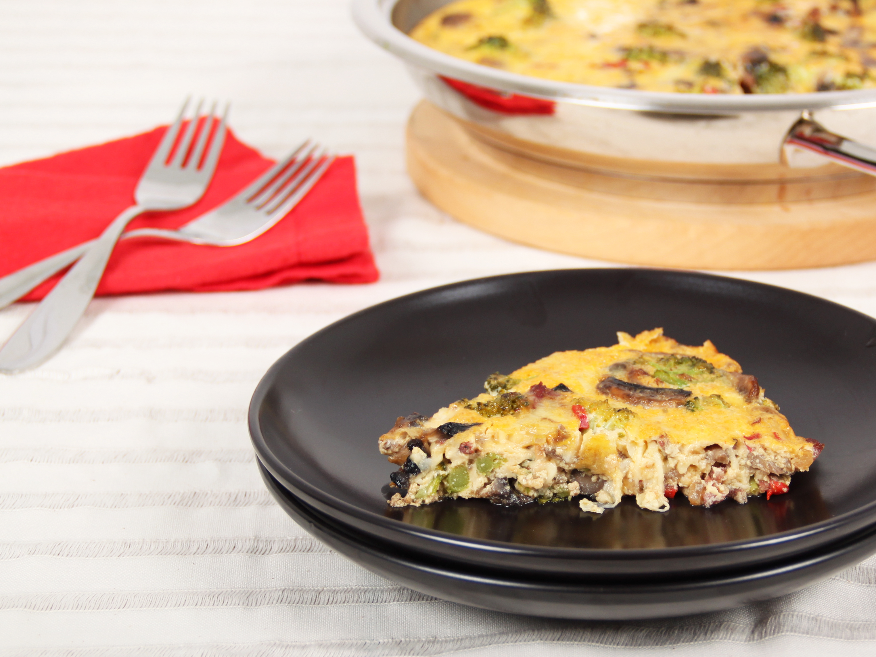 All day frittata prepared in an AMC Chef's Pan