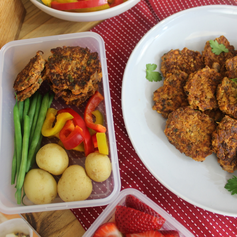 Lunch box - fish cakes